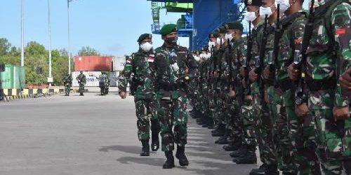 Setahun Bertugas Amankan Perbatasan RI-PNG, Satgas Pamtas RI-PNG Yonif 411 dan 406 Tinggalkan Daerah Operasi