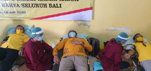 """Donor Darah Golkar Karangasem Berhasil Terkumpul 109 Kantong, Plt. Golkar Karangasem: """"Setetes darah untuk kehidupan"""""""