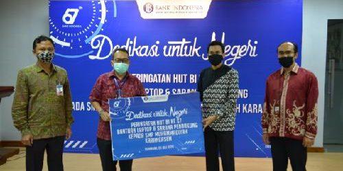 KPw BI Bali Serahkan Bantuan Laptop kepada SMAN 1 Dawan dan SMP Muhammadiyah Karangasem