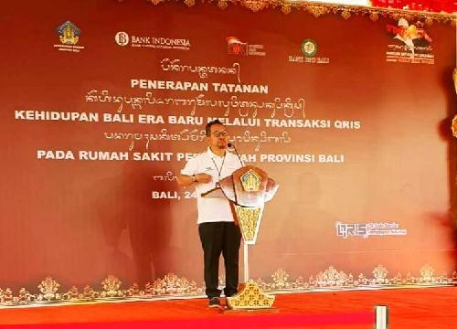 """Implementasi QRIS Diresmikan di RSBM, KPw BI Bali Trisno Nugroho: """"Bisa diaplikasikan bayar parkir"""""""