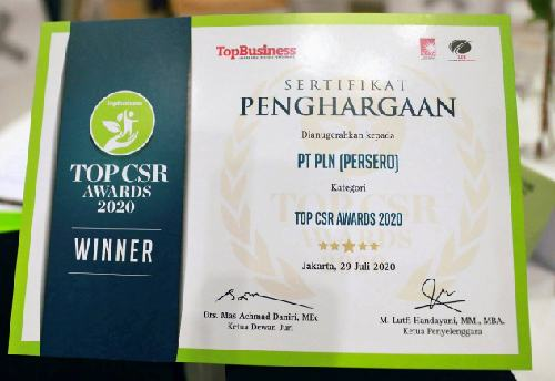 2 Penghargaan di Ajang Top CSR Awards 2020 jadi Kado Terindah PLN di Masa Pandemi Covid-19