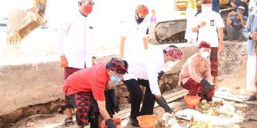 "Menhub ""Ground Breaking"" Pelabuhan Sampalan dan Bias Munjul, Gubernur Koster: ""Interiornya diberi sentuhan seni arsitektur kuno Nusa Penida"""