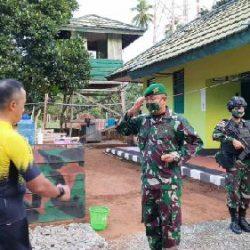 Bersepeda Jadi Agenda Kunker Kasdam Cenderawasih di Pos Komando Utama Satgas Pamtas Yonif 125/Simbisa