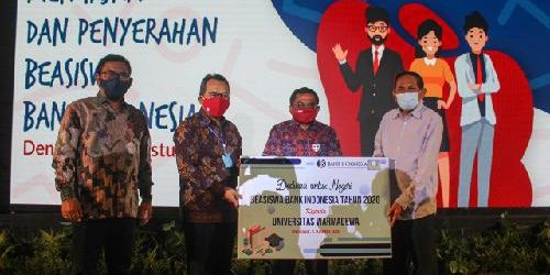 Tingkatkan Kualitas Masa Depan SDM Indonesia, BI Serahkan Program Beasiswa kepada Unwar