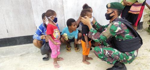 Kasus Stunting di Papua Diatas 10%, Satgas Yonif 413 Kostrad Galakkan Posyandu