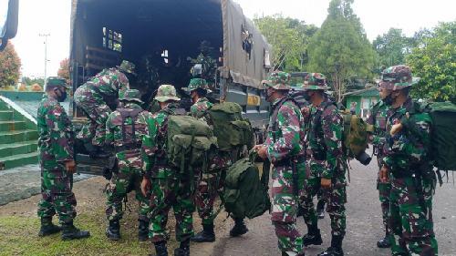 59 Personel Berangkat ke Wilayah Perbatasan RI-PNG Emban Misi TMMD 109