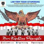 """Law Firm Togar Situmorang: """"Selamat Hari Kesaktian Pancasila, NKRI harga mati!"""""""