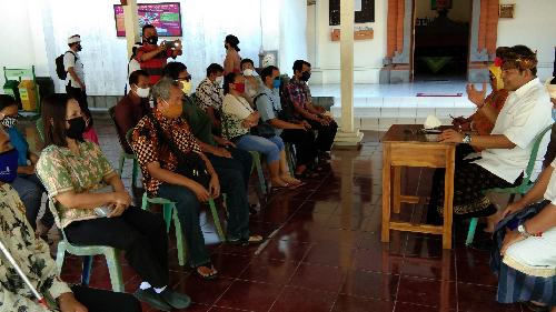 Ngurah Ambara Temui Komunitas Tuna Netra Denpasar Mohon Doa Restu, Siap Tandatangani Pakta Integritas