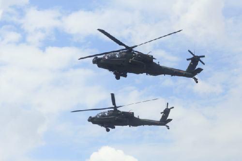Tembakan Udara Apache Belah Langit Martapura
