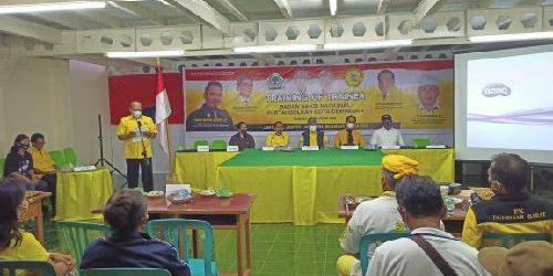 Golkar Denpasar Gembleng Para Saksi, Siap Kawal Suara Paslon Amerta