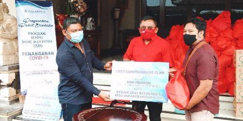 """BI dan ARW kembali Gelontor 1.250 Paket Sembako, Rai Wirajaya: """"Harapannya agar masyarakat tetap survive"""""""