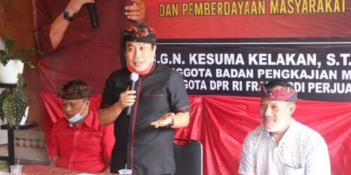 Dengar Pendapat Masyarakat, Alit Kelakan Sosialisasikan Landasan Pembangunan dan Pemberdayaan Masyarakat di Kabupaten Bangli