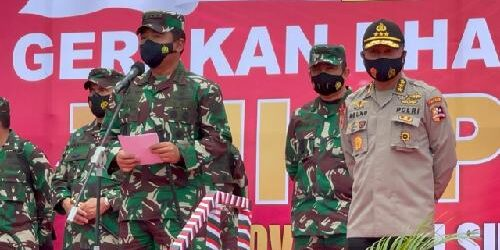 Gerakan Bakti Sosial TNI-Polri, Bagikan Bingkisan Untuk MasyarakatTerdampak Covid-19