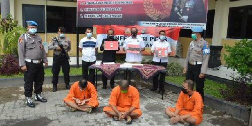 Resnarkoba Polres Tabanan Tangkap 4 Pelaku Narkoba