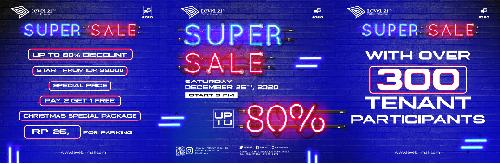"Heboh! ""Super Sale Up to 80%"" Jelang Akhir Tahun di Level 21 Mall"