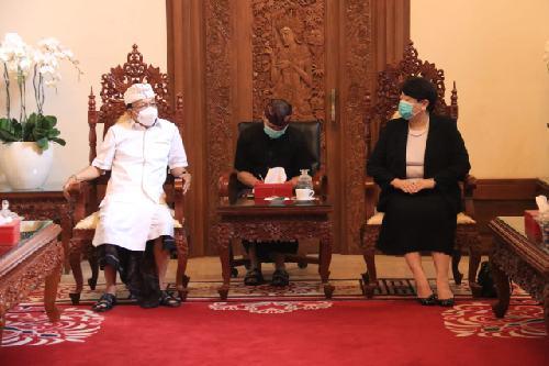 Temui Gubernur Bali, Konjen Jepang Puji Inisiatif Koster Tangani Covid-19