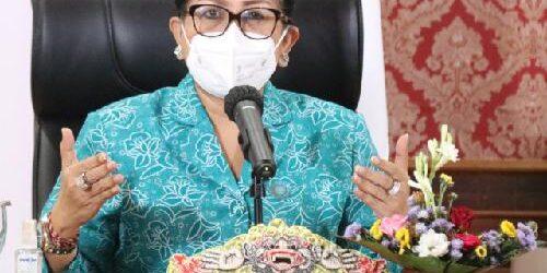 Dorong PKK Tetap Berkarya Ditengah Pandemi, PKK Provinsi Bali Gelontor BKK 500 Juta ke PKK Kabupaten/Kota