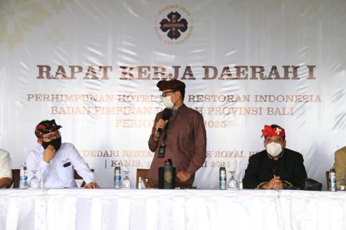 Ketua PHRI Bali Cok Ace Minta Menparekraf Segera Realisasikan Soft Loan bagi Industri Pariwisata Bali