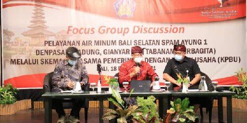 """Kebutuhan Air Bersih di """"Sarbagita"""" Tahun 2040 Meningkat, Pemprov Kuatkan Skema KPBU Pelayanan Air Minum Bali Selatan Ayung 1 Sarbagita"""