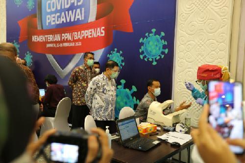 Proteksi ASN dari Covid-19, Kementerian PPN/Bappenas Vaksinasi 2.566 Pegawai
