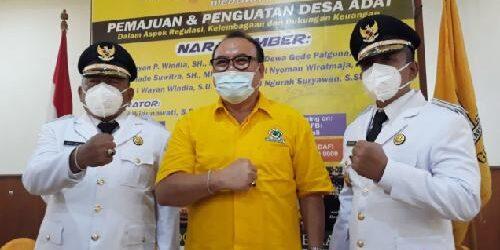 """Bupati-Wabup Jembrana """"TEPAT"""" Temui Pengurus Golkar Bali, Sugawa Korry Titip 6 Nasihat!"""