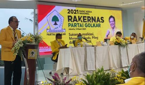 Di Rapimnas Golkar, Sugawa Korry Sampaikan Sikap Dukungan Golkar Bali ke AH Jadi Capres 2024