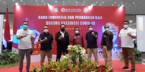 """Vaksinasi Covid-19 Bagi Industri Perbankan, KPwBI Bali Trisno Nugroho: """"Tetap disiplin prokes, kesehatan pulih, ekonomi bangkit!"""""""