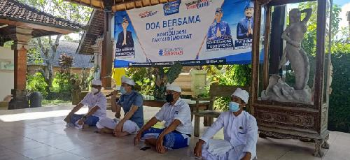 KLB Abal-Abal Ditolak Kemenkumham, Kader Demokrat Bali Loyalis AHY Gelar Doa Bersama