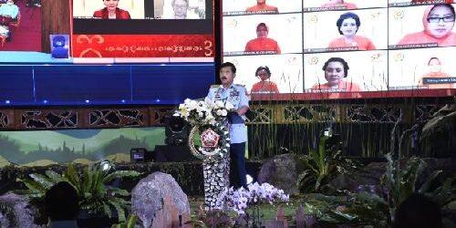 HUT ke-57 Dharma Pertiwi, Panglima TNI Ajak Bangun Keluarga Tangguh dan Produktif Menuju Indonesia Maju