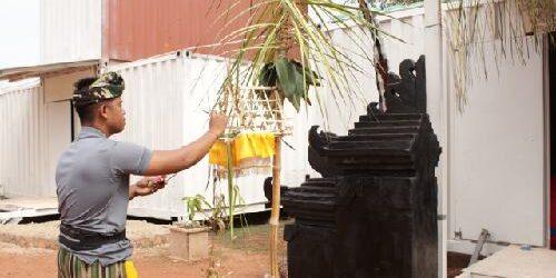 Umat Hindu Satgas Kizi MINUSCA Sembahyang Galungan di Pura Santhi Buana Republik Afrika Tengah
