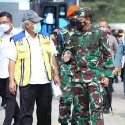 Panglima TNI Tinjau Lokasi Penyekatan Mudik 2021 di Pelabuhan Bakauheni dan Merak