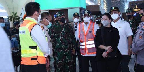 Panglima TNI, Kapolri, Ketua DPR dan Sejumlah Menteri Tinjau Penyekatan Arus Mudik 2021