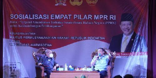 Universitas Warmadewa dan MPR RI Gelar Sosialisasi Empat Pilar Kebangsaan