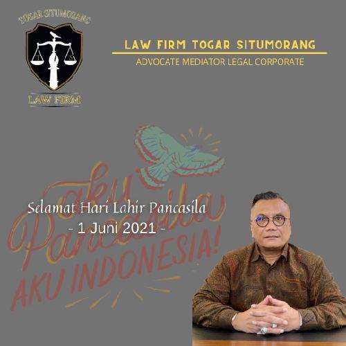 """Law Firm Togar Situmorang Ucapkan Selamat Hari Lahir Pancasila, Bang Togar: """"Aku Pancasila aku Indonesia!"""""""