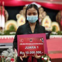 Pemenang I Lomba Desain Kreasi Busana Adat Ke Kantor Pakem Bali Apresiasi Upaya PDI Perjuangan Lestarikan Busana Adat Pakem Bali