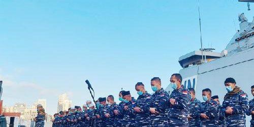 """""""Pengawal Samudra"""" KRI Sultan Iskandar Muda-367 Rayakan Idul Fitri di Dermaga Beirut Lebanon"""