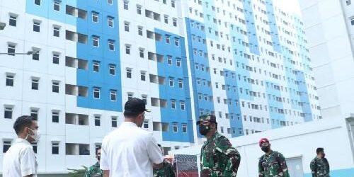 Lagi, Panglima TNI Sidak Rusun Nagrak, Pastikan Kesiapan Isolasi OTG