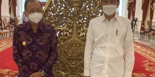 Dihadapan Presiden Jokowi dalam Rapat Terbatas, Gubernur Koster Usul Pariwisata Internasional Dibuka Akhir Juli 2021