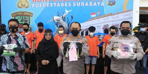 Satresnarkoba Polrestabes Surabaya Gagalkan Peredaran Narkotika, Barang Bukti 20,5 Kg Sabu Siap Edar