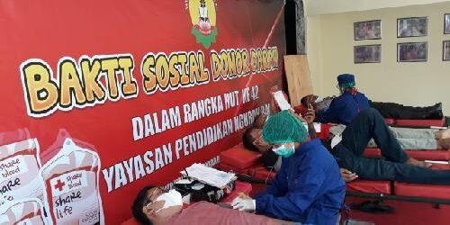 """Aksi Sosial Donor Darah YPNR dan SOKSI Z, Gus Adhi: """"Donor darah selamatkan nyawa orang lain"""""""