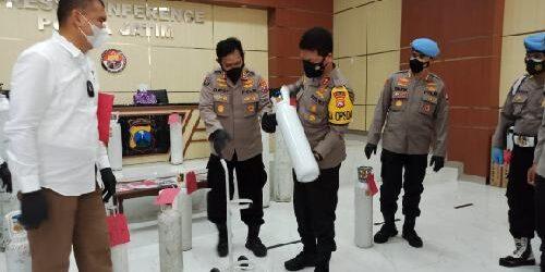 Polda Jatim Bongkar Penjualan Tabung Oksigen Diatas HET di Sidoarjo