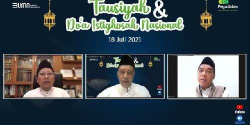 """""""Tausiyah dan Doa Istigosah Nasional"""" Pegadaian Untuk Indonesia Sehat"""