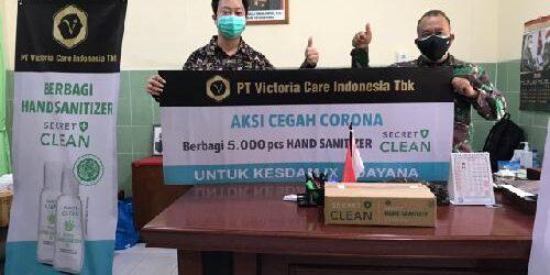 Donasikan 5.000 Botol Hand Sanitizer Secret Clean, PT VCI Tbk Dukung Percepatan Penanganan Covid-19 di Indonesia