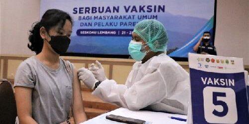 Serbuan Vaksinasi di Seskoau Libatkan 22 Nakes, Sasaran Target 10.000 Orang