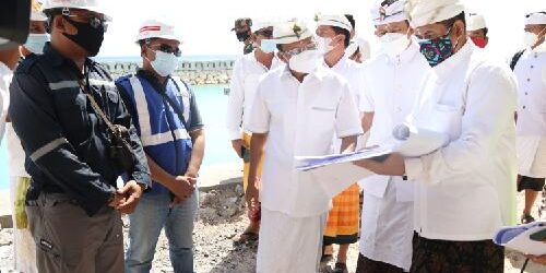 "Sidak Proyek Pembangunan Pelabuhan Sampalan, Gubernur Koster: ""Oktober ini ditarget selesai"""