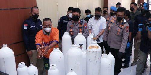 Modifikasi Tabung Apar Jadi Tabung Oksigen Palsu, Sebuah Tempat Usaha Digerebek Ditreskrimsus Polda Jatim