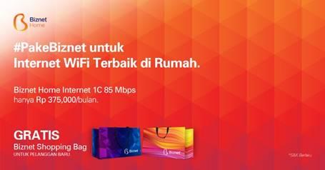 Biznet Hadirkan Paket Layanan Biznet Home Terbaru, Kapasitas Bandwidth 85 Mbps