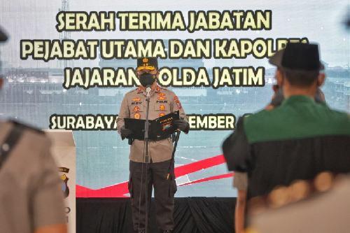 Kapolda Jatim Pimpin Sertijab Pejabat Anyar Polda Jatim