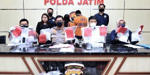 Polda Jatim Ringkus Sepasang Kekasih Pengedar Sabu Jaringan Malaysia