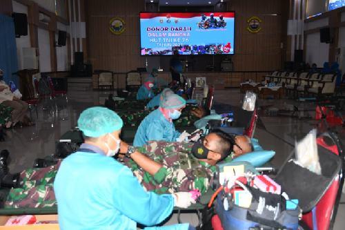 Donor Darah Lantamal V Surabaya, Terkumpul 144 Kantong Darah